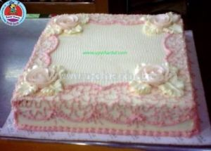 Cake with net design