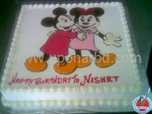 Mickey and Mice on the cake