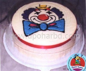 Cake with clown design
