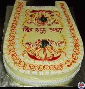 Cake For Gaye Holud In Bangladesh Surprise Its A Kula Shape Cake