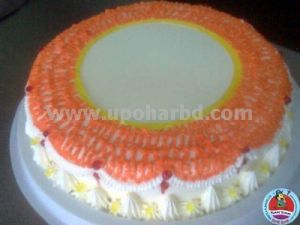 cake with orange design
