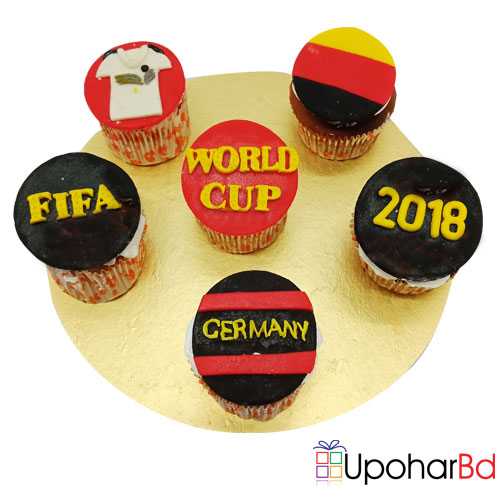6 special Germany designed FIFA cupcake