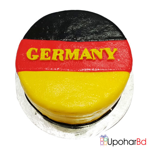 Cake designed with Germany flag fondant