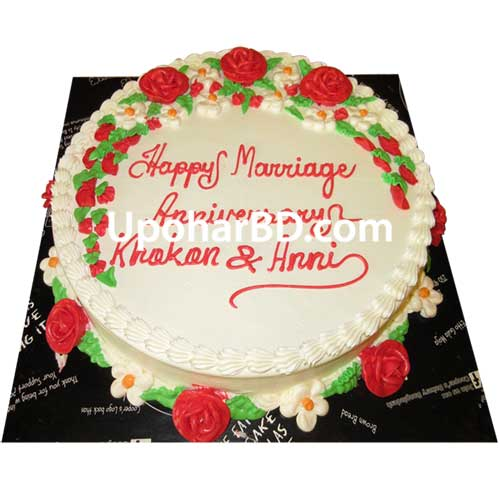 Coopers In Bangladesh Cake With Garden Design Round Shape Cakes