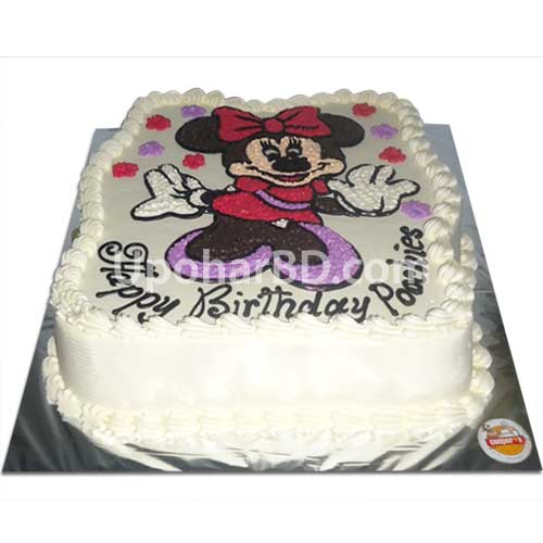 Minnie mouse design cake