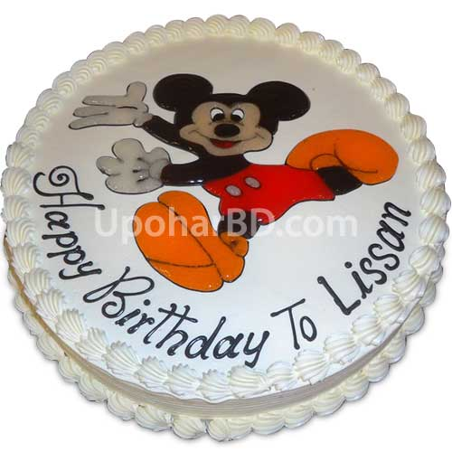 Cake with Mickey greetings
