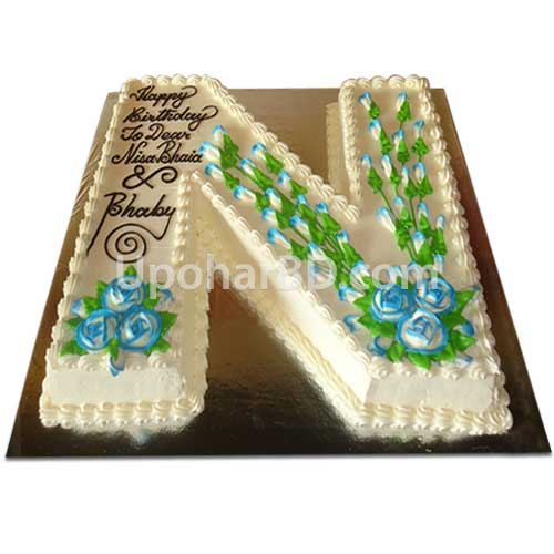 Alphabet Letter Birthday Cakes