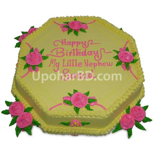 Cake with elegant design