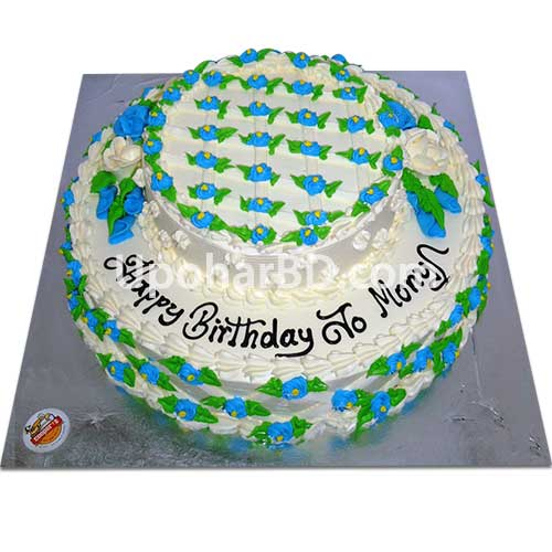 Two layer round shape cake