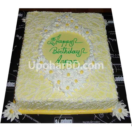 cake with elegant flower design
