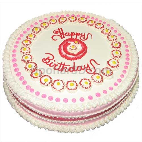 Send Birthday Cake To Bangladesh Cake With Mild Design Round