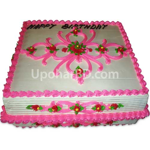 Cake with traditional design