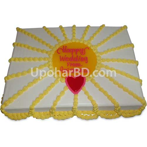 Plate Decoration For Gaye Holud: Cake For Gaye Holud Or Wedding