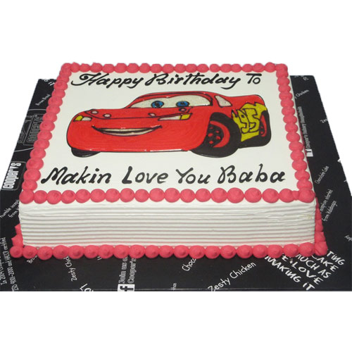 Car designed photo cake