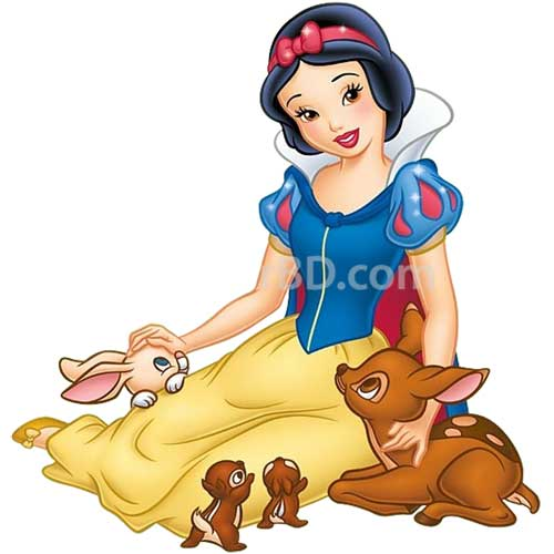 Snow white designed cake