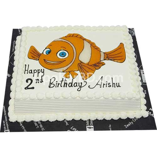 Nemo cartoon designed cake