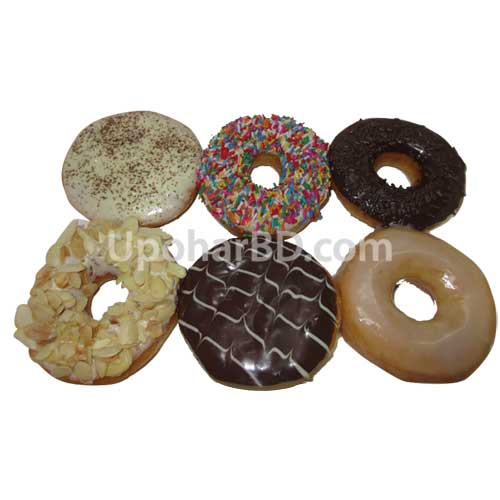 Glazed mix donuts 6 pac