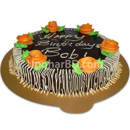 Hot cake chocolate pastry Bangladesh Chocolate mud cake with roses