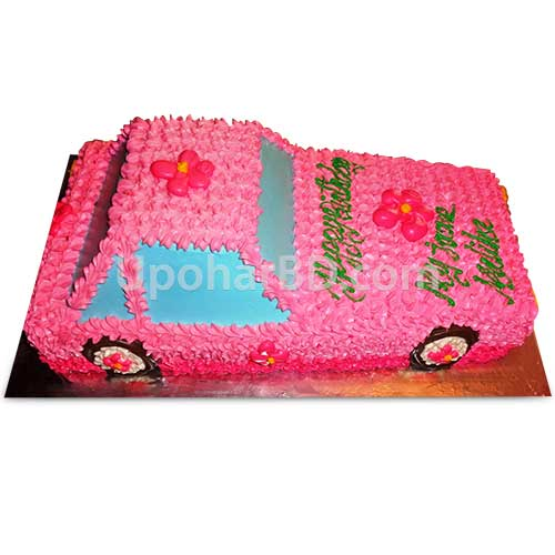 Car designed cake for her