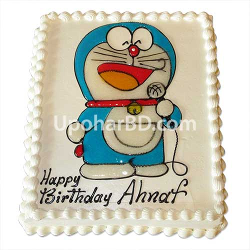 Doraemon cartoon designed cake by Hot Cake
