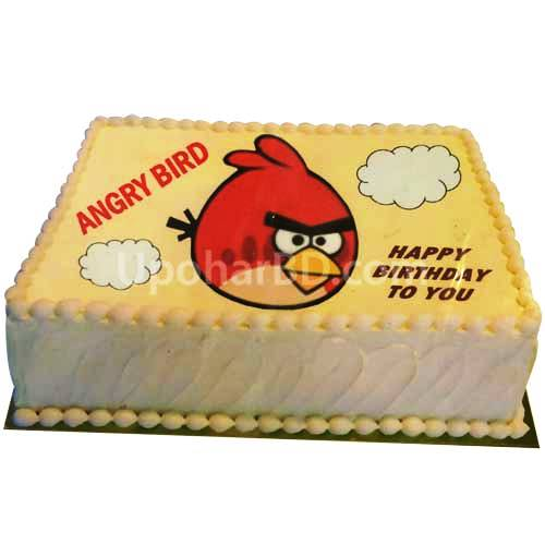Angry Bird Cake from Nutrient