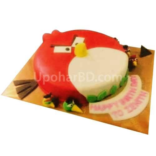 Angry Bird Shape Cake