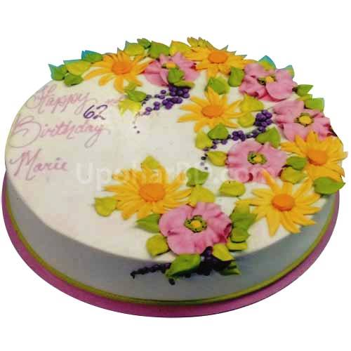 Buy And Send Anniversary Cake Online In Bangladesh Spring Flower