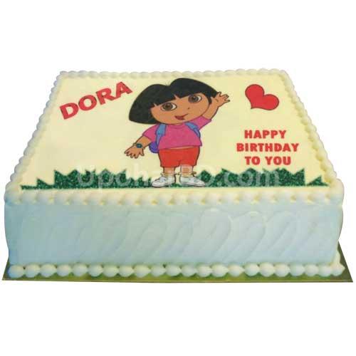 Awesome Buy And Send Birthday Cake Online In Bangladesh Dora Cake Birthday Cards Printable Benkemecafe Filternl
