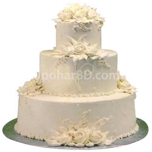 Buy and send wedding cake online in bangladesh elegant white elegant white flower cake mightylinksfo