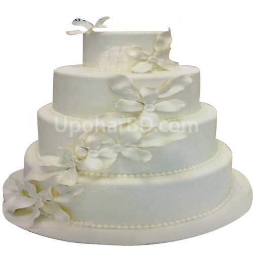 Buy and send celebration cake online in bd white flower cake white flower cake mightylinksfo