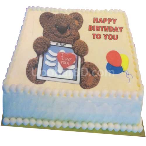 Teddy Cartoon Cake
