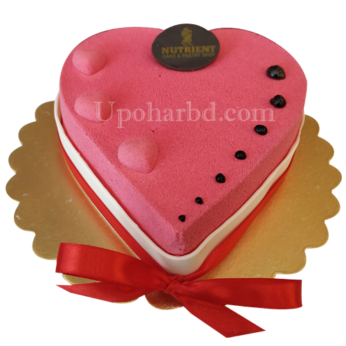 Heart shaped Raspberry Mousse Cake