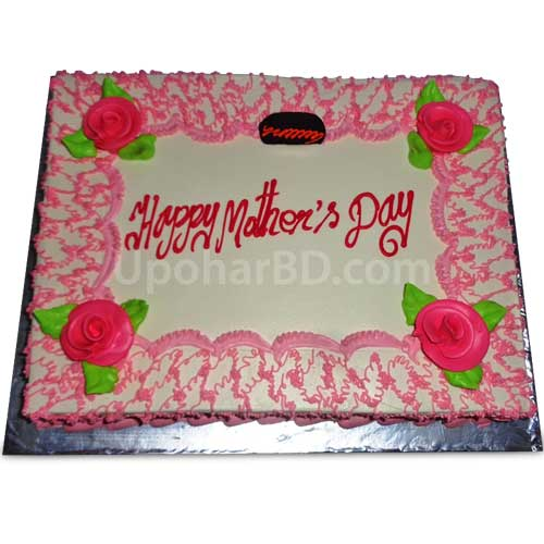 cake with elegant pink design