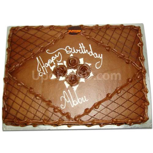 Birthday gift delivery Cake with lots of chocolate Square Shape