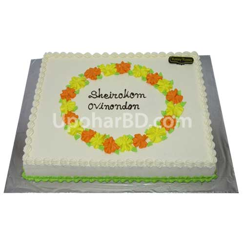 Cake with mix colour design