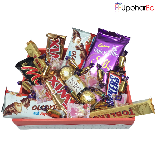 Assorted chocolate package with love