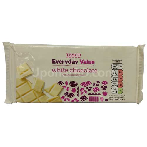 Tesco Everyday Value white chocolate