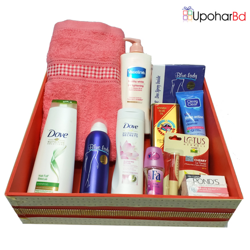 Package for her with personal care items