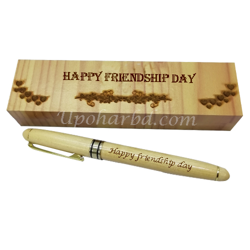 wooden friendship pen box
