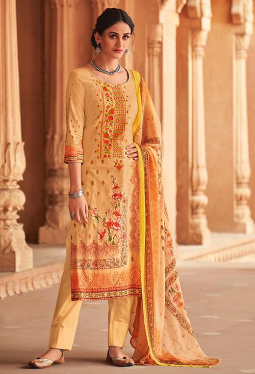 Apricot Color Lawn for Her