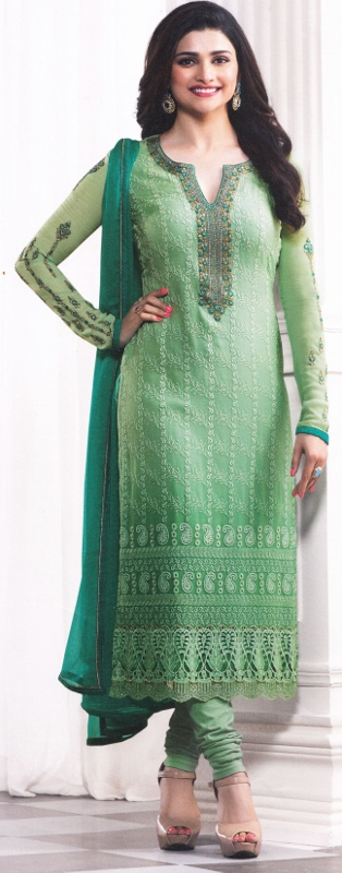 Light green fashionable suit from vinay fashion