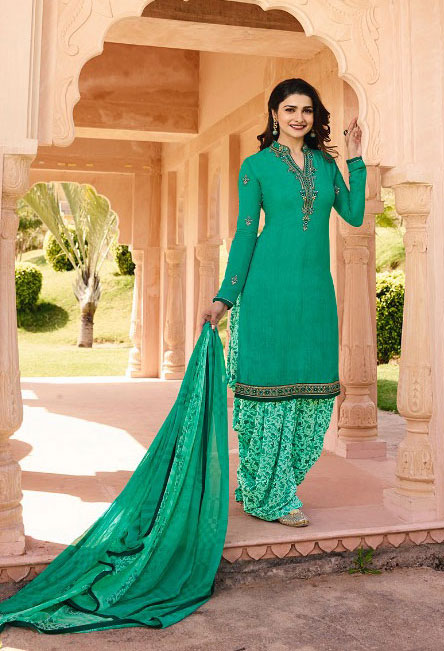 Gorgeious sweet Aqua-marine color beautiful salwar suit from Vinay Collection