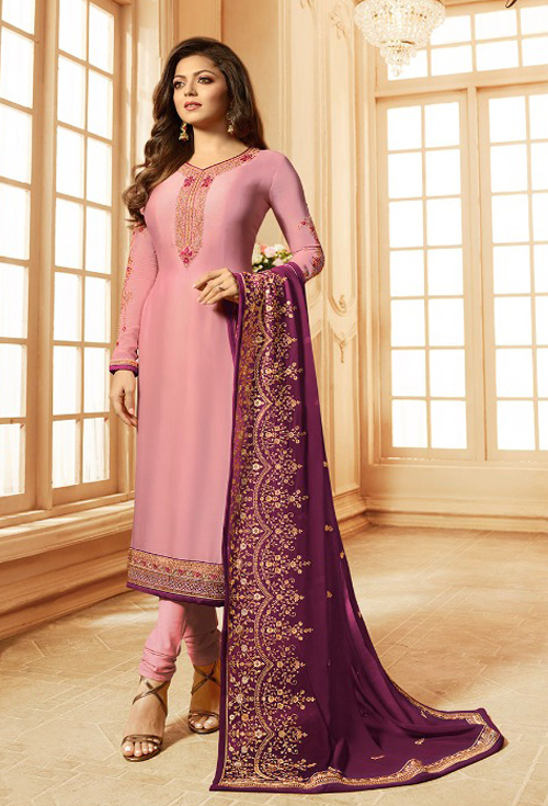 Rose purple party suits