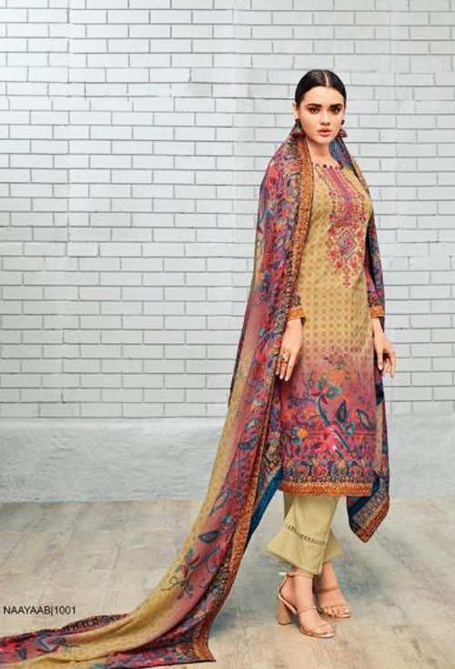 Dark Khaki color designer lawn