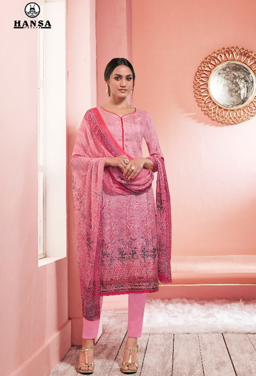 Taffy Color Upada Silk Suit For Her
