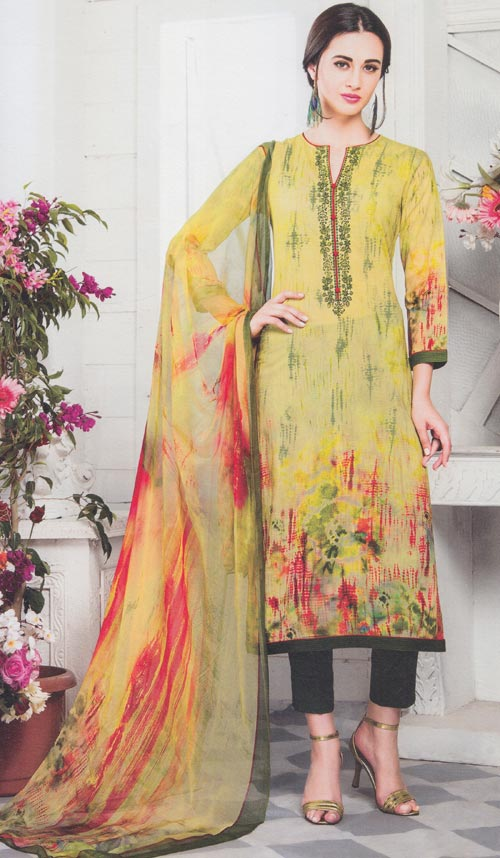 Lime-green Exclusive fancy traditional suit by Esta design