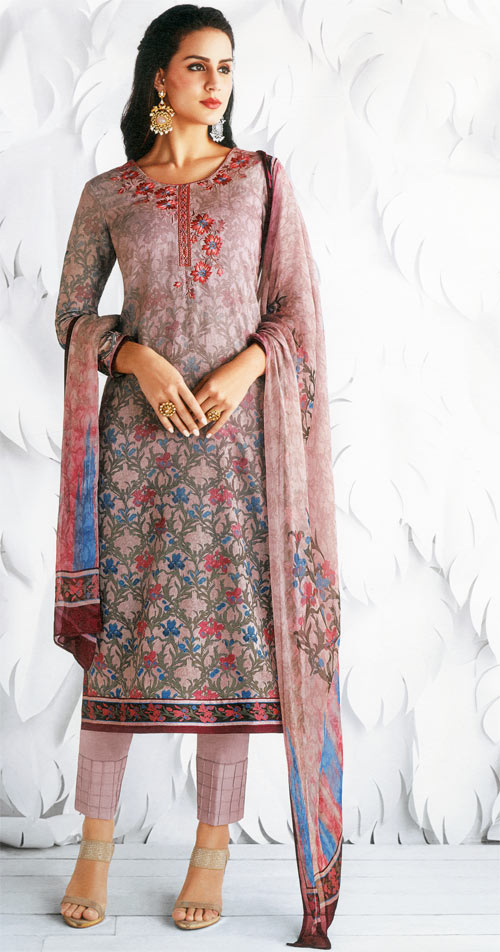 Rose gold exclusive fancy traditional suit by Jinaam's fashion