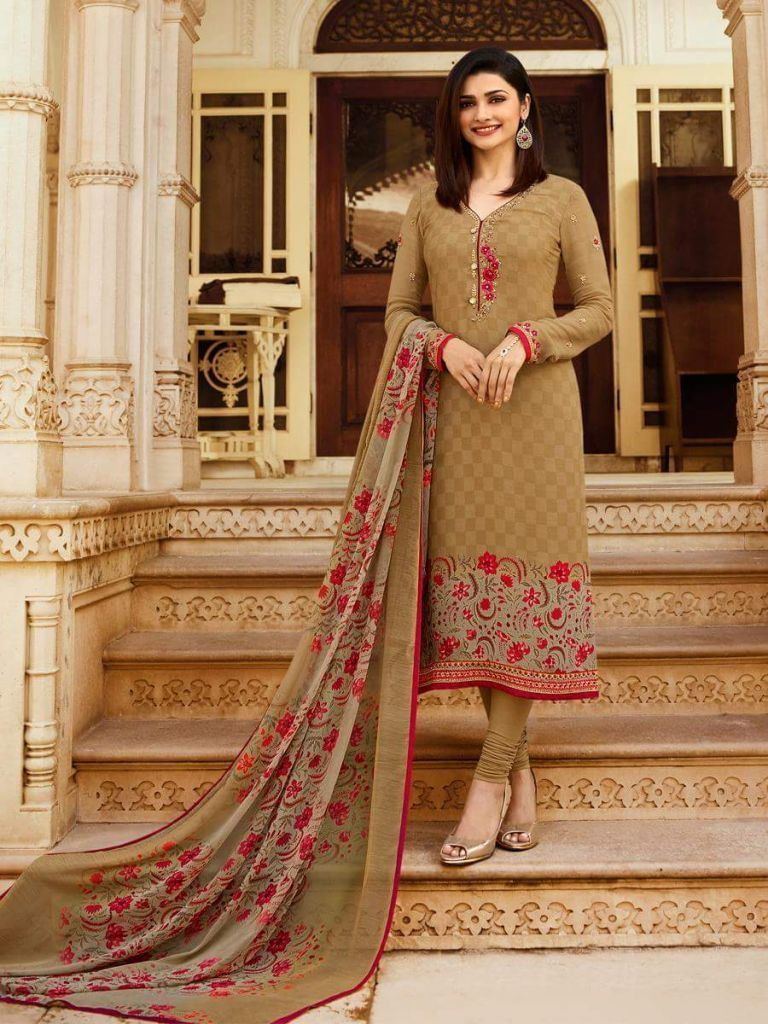 Exclusive brown color suit from vinay fashion