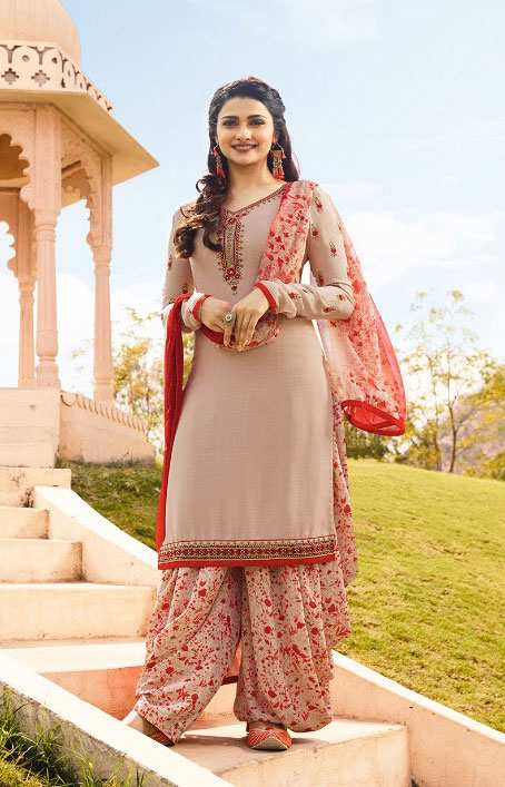 Shine Llight Pink Color salwar suit from Vinay Collection
