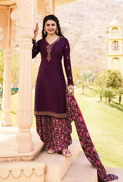 Most Demandable Red Wine  Color salwar suit from Vinay Collection.